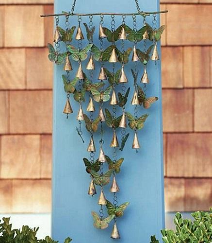 Shimmering Butterflies amp Bells Wind Chime Butterfly