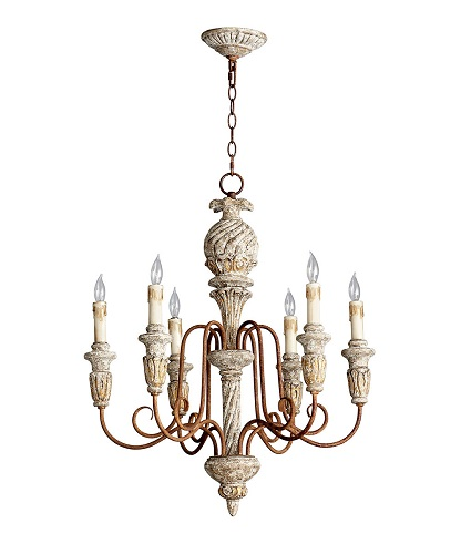 Old World Dining Room Chandeliers: French Country Bateau 6 Light Chandelier Old World Vintage
