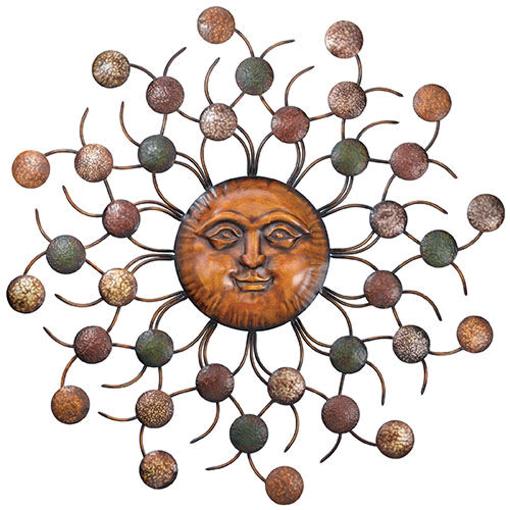 Sun Face Circles Wall Art Sculpture Large Metal Sunburst