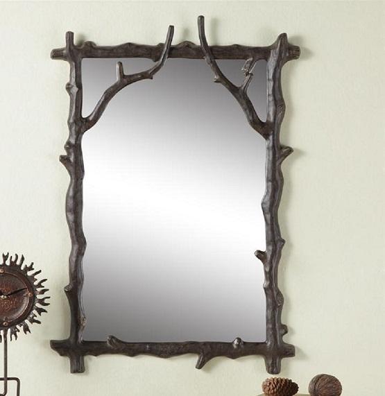 Rustic Cabin Wall Decor : Branch decorative wall mirror rustic cabin lodge decor