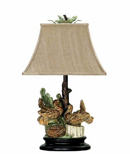 French Country Nesting Doves Table Lamp Shabby Cottage