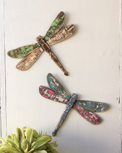 Wooden Dragonfly Wall Art Dragonflies Shabby Cottage Chic
