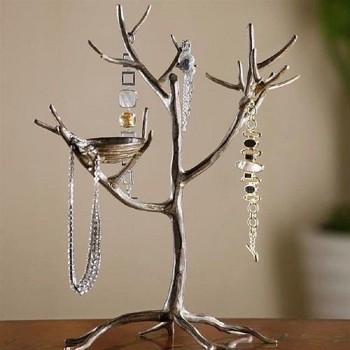 Jewelry Tree Bird Nest Branch Jewelry Holder Stand Display Metal 15 H Spi 33581 Ebay