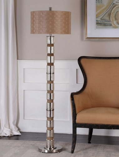 luxury of brass lamp twist at floor rope for sale